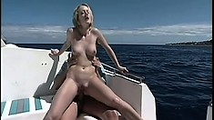 She gets so horny when he takes his boat out on the open sea
